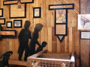 The 65-acre family-owned Murphy's Orchard farm in Burt, north of Lockport, has a secret underground room accessed from the floor of the barn where runaway slaves were secreted on their way to freedom.