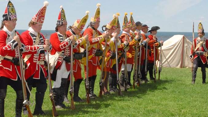 Re-enactment at Fort Ontario, Oswego